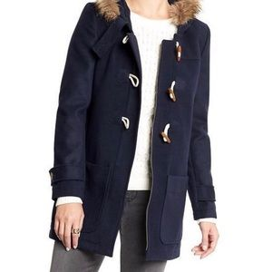 Old navy solid black toggle peacoat
